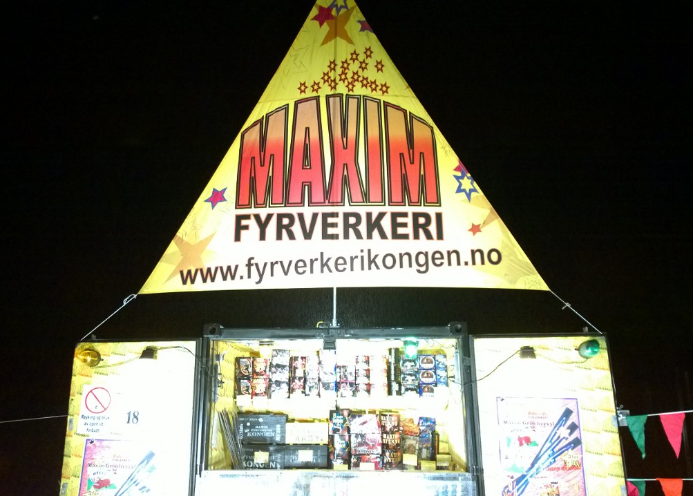 Maxim har salgscontainere som erstatter dårlige telt